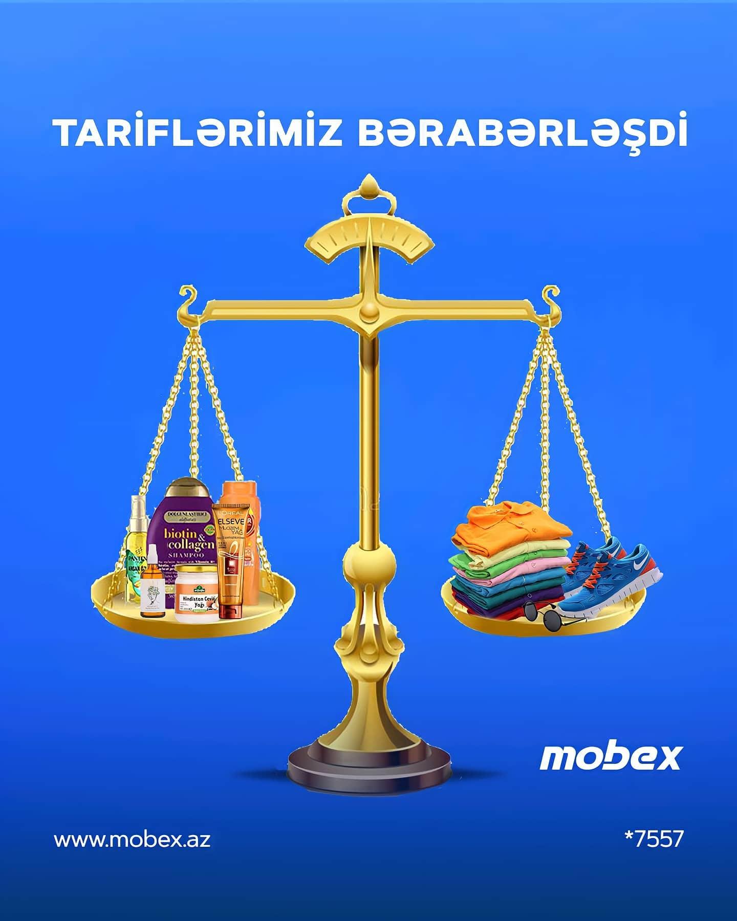 TARİFLƏRİMİZ BƏRABƏRLƏŞDİ